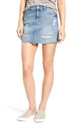 Mavi Jeans Women's Carmen Destroyed Denim Skirt Ripped Gold Vintage