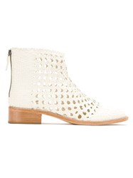 Sarah Chofakian Ankle Boots White
