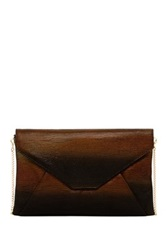 Lk Bennett Lailah Suede Leather Envelope Clutch Brown