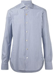 Kiton Printed Shirt Blue
