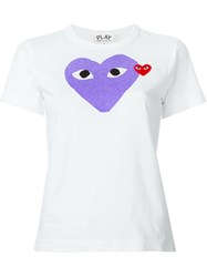 Comme Des Gara Ons Play Heart Print T Shirt White