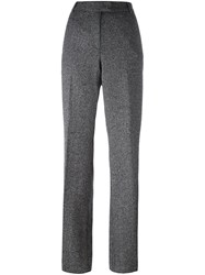 Barbara Bui Herringbone Trousers Black