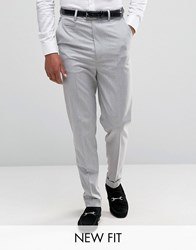 Asos Super High Waisted Smart Trousers In Pale Grey Pale Grey