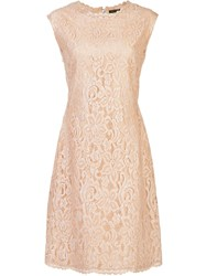 Josie Natori Lace Dress Nude Neutrals