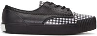 Alexander Wang Black And White Houndstooth Perry Sneakers