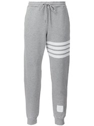 Thom Browne Striped Detail Track Pants Grey
