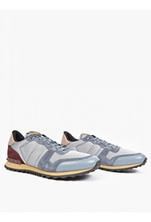Valentino Blue Suede And Mesh Running Sneakers