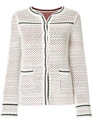 Charlott Fitted Perforated Jacket Multicolour