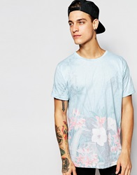 Pull And Bear Pullandbear T Shirt With All Over Floral Print Green