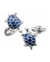 Jan Leslie Blue Turtle Cuff Links
