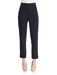 Pauw Cropped Stretch Wool Pants Navy