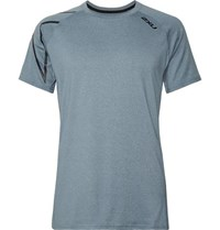 2Xu Xctrl Printed Stretch Jersey T Shirt Light Blue