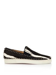 Christian Louboutin Pik Calf Hair And Spike Trainers