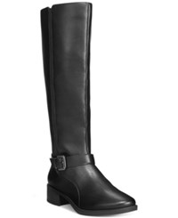 Easy Spirit Nadette Wide Calf Tall Boots Women's Shoes Black