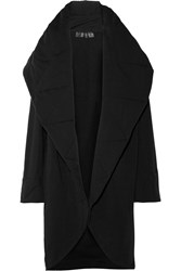 Norma Kamali Quilted Stretch Cotton Blend Coat Black