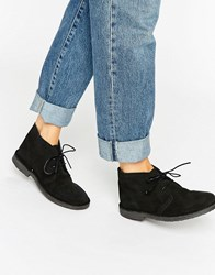 Park Lane Desert Boot Black Suede