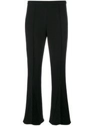 Marco De Vincenzo Pleated Detail Cropped Trousers Women Polyester Spandex Elastane Viscose 40 Black
