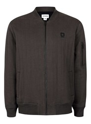 Converse Grey Brown Quilted Bomber Jacket