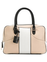 Barbara Bui Colour Block Tote Nude And Neutrals
