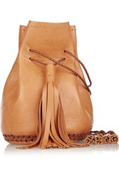Wendy Nichol Bullet Studded Leather Bucket Bag Brown