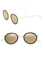 Kyme Matti 46Mm Oval Sunglasses Gold