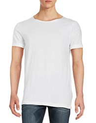Mattson Elongated Scoop Neck Tee White