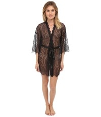 Hanky Panky Lace Robe Black Women's Robe