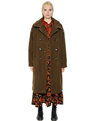 Y's Double Breasted Wool And Mohair Coat