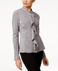Alfani Prima Ruffled Faux Suede Jacket Only At Macy's Modern Metal