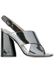 Paula Cademartori Chunky Heel Sandals Grey