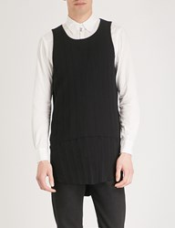 The Soloist Longline Cotton Jersey Vest Top Black