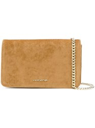 Lancaster Flap Clutch Bag Yellow And Orange