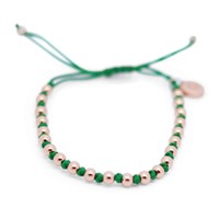 Gideon John Jewellery Rose Gold Lux Green Knot