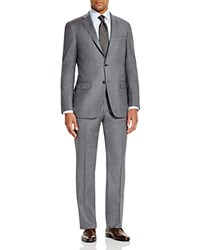 Hart Schaffner Marx Shaffner Platinum Label Windowpane Classic Fit Suit 100 Bloomingdale's Exclusive Grey