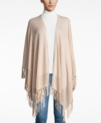 Charter Club Cashmere Fringe Wrap Cardigan Only At Macy's Blush Heather