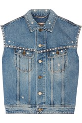 Saint Laurent Steve Studded Denim Vest