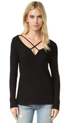 Lna Cross Strap Sweater Black