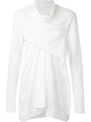 Rick Owens Wrap Effect Shirt White