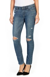 Paige Women's Skyline Ripped Ankle Peg Jeans