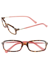 Lilly Pulitzer 'Reef' 49Mm Reading Glasses Pink Tortoise Hibiscus Pink