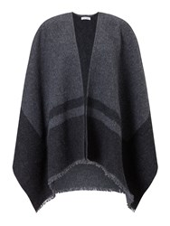 Jigsaw Sylvie Blanket Wrap Cape Charcoal