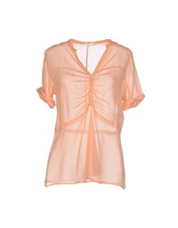 Gold Case Shirts Blouses Women Salmon Pink