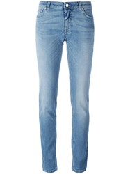 Givenchy Star Print Slim Fit Jeans Blue