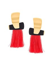 Lizzie Fortunato Jewels 'Totem' Tassel Earrings Metallic