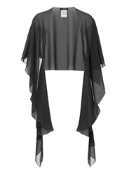 Vera Mont Chiffon Wrap With Button Option Charcoal