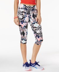 Material Girl Active Juniors' Printed Cropped Leggings Only At Macy's Spliced Floral