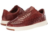 Cole Haan Grandpro Tennis Huarache Woobury Woven Burnish Shoes Brown