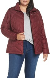 Columbia Plus Size Heavenly Water Resistant Insulated Jacket Rich Wine