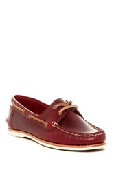 Frye Quincy Boat Shoe Red