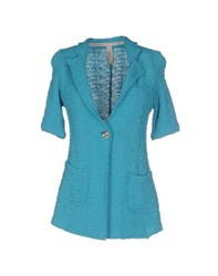 Just Jacket Suits And Jackets Blazers Women Turquoise